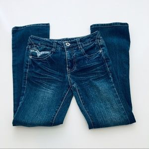Z. Cavaricci Stretch Boot Cut Girls Jean Size 7
